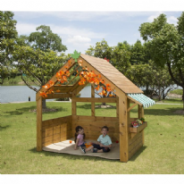 Outdoor Wooden Playhouse